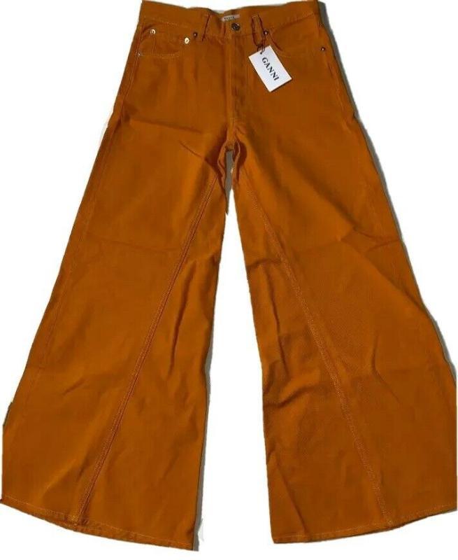 全新 - ganni max喇叭形鈕扣 飛牛仔牛仔褲 女款(尺寸36)
