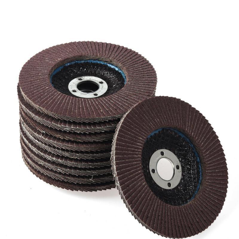 4吋 打磨蓋板 圓盤研磨輪 用於角磨機研磨工具 150# 10pc