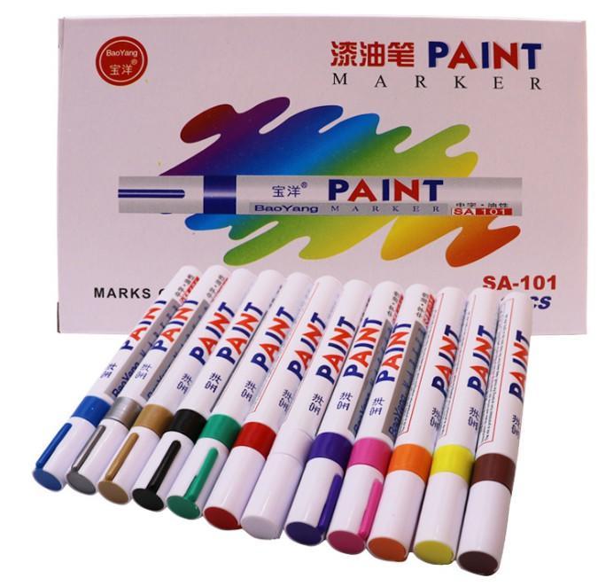 現貨 油漆筆 車牌捕漆 工程用 彩繪筆 補胎筆 塗鴉筆 輪胎改色 個性改裝 輪胎筆 描胎筆 油漆記號筆 個性改裝補漆筆