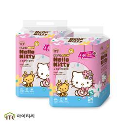 4層 Hello Kitty 高級 花紋 衛生紙 24卷 25M x 2包