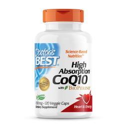 [Doctor's BEST] 高吸收輔酶 Q10 含 BioPerine 胡椒鹼 100mg 120 粒素食膠囊