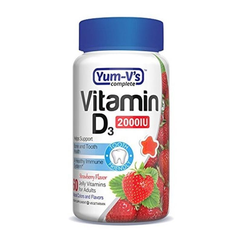 [Yum-Vs] 成人維他命 D3 草莓味 2000 IU 60粒