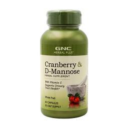 [GNC] Herbal Plus 蔓越莓 D-甘露糖+維他命C 60 粒膠囊