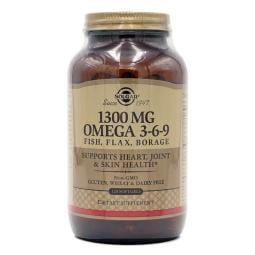 [Solgar] 魚&亞麻 琉璃苣油 1300 mg Omega 3-6-9 120 粒軟膠囊