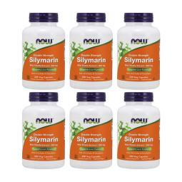 Now Foods 6 SET - 雙重 強度 硅藻素 牛奶 薊 提取物 300 mg 200 蔬菜 膠囊