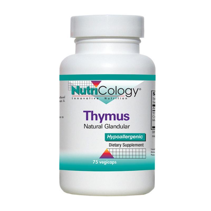 [Nutricology] Thymus 天然腺體 75 粒素食膠囊