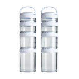 [BlenderBottle] 2 入- GoStak 四層多功能組合罐-時尚白(350ml)