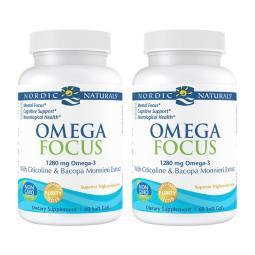 北歐/自然/2/SET/-/Omega/Focus/1280/mg/DHA/780/EPA/330/60/軟凝膠