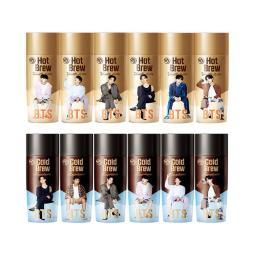 [Yakult]BTS 防彈少年團 香草拿鐵*6瓶+冷萃咖啡6瓶 共12瓶一組 樣式隨機配送 不指定