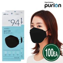 [furion] KF94 黑色大型防疫口罩 50片X2set 海外專用