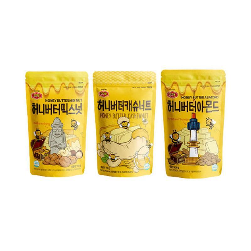 Tom's Gilim 蜂蜜奶油口味 堅果組合三包入