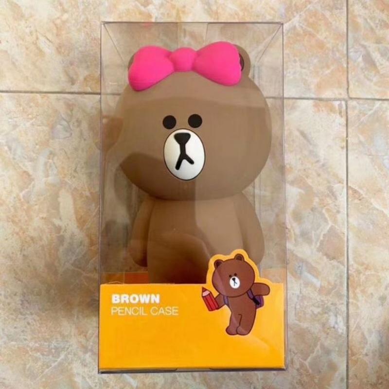 【溫馨貓小舖】 LINE FRIENDS 蝴蝶結熊大立體 造型 筆袋 鉛筆盒 收納袋 收納包 化妝包 (附盒子)