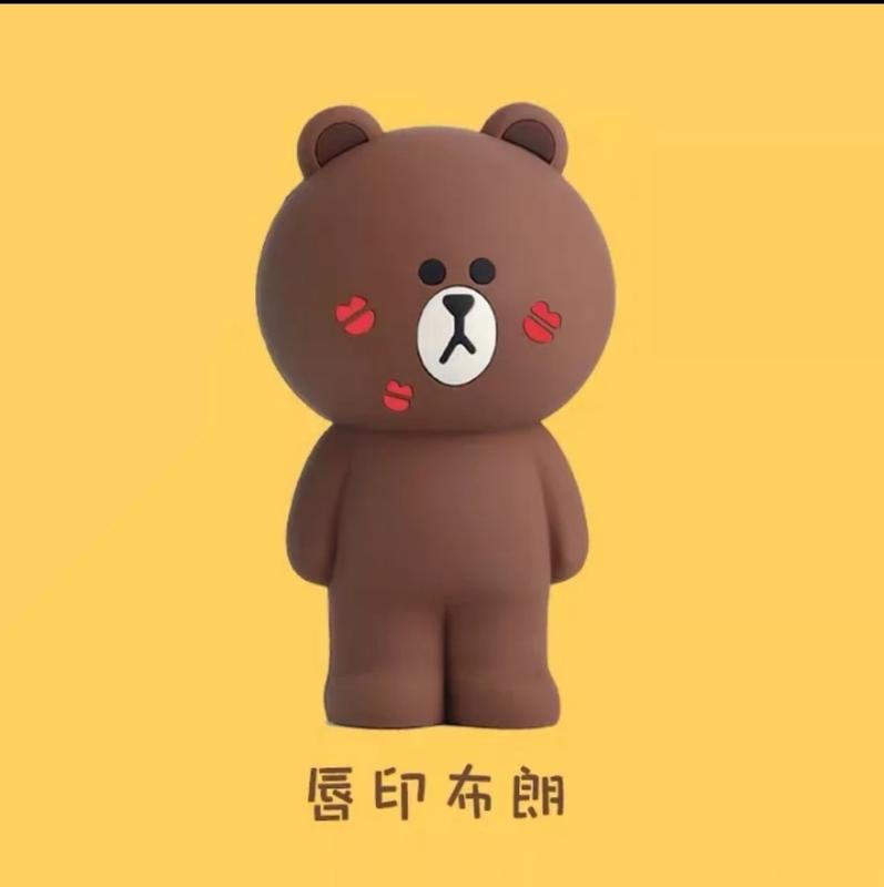 【溫馨貓小舖】 LINE FRIENDS 唇印熊大立體 造型 筆袋 鉛筆盒 收納袋 收納包 化妝包 (附盒子)