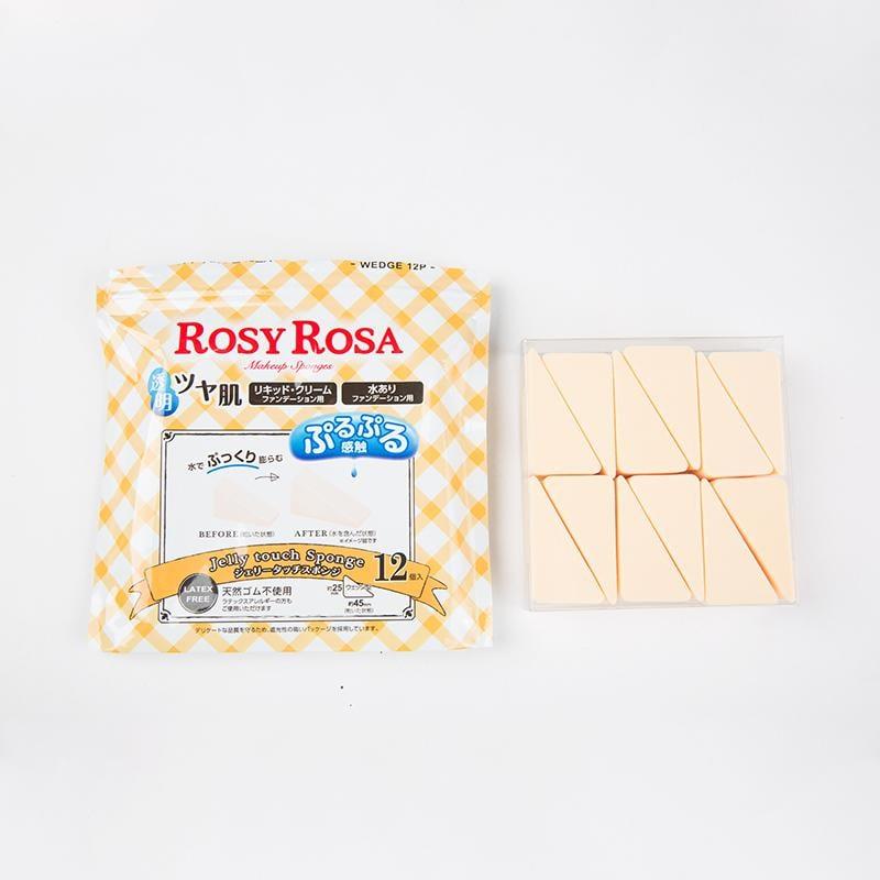 子晴美妝日本ROSYROSA化妝海綿柔軟果凍五角三角菱形化妝棉粉底撲