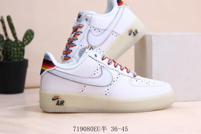 耐吉空軍一號 AF1 低幫休閑板鞋 Nike Air Force 1 Betrue 彩虹運動鞋男鞋女鞋休閒鞋滑板鞋