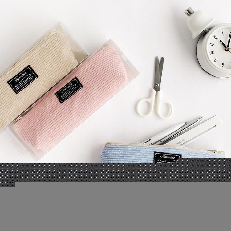 特優-收納袋云木雜貨燈芯絨少女創意大容量簡約復古文藝學生筆袋收納文具袋  露天拍賣