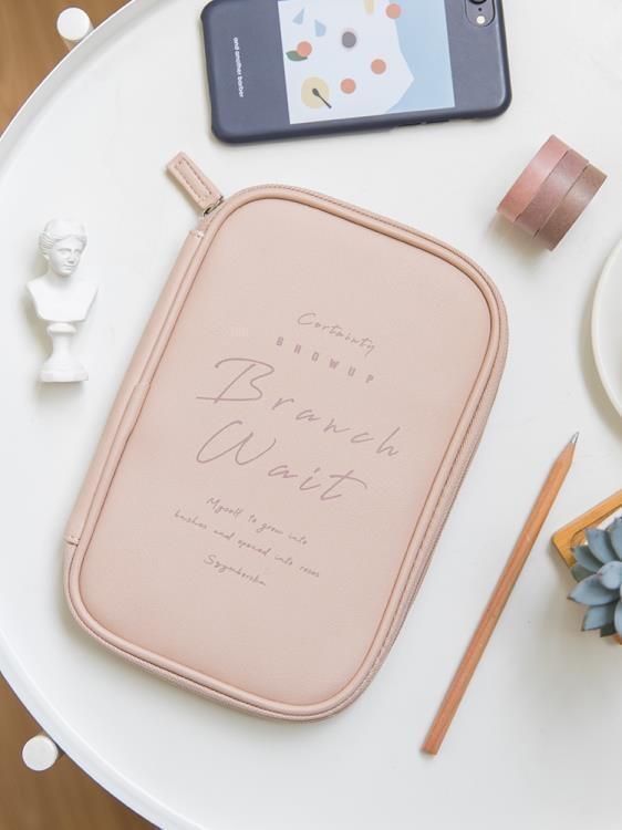 特優-收納袋本小姐原創筆袋女簡約ins大容量學生文具盒創意小物件旅行收納包  露天拍賣