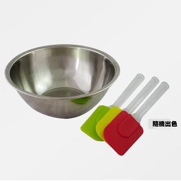 【PChome 24h購物】 【烘焙DIY兩件組】26cm打蛋盆+烘焙矽膠刮刀1入(隨機出色) DECF3E-A9009X89U