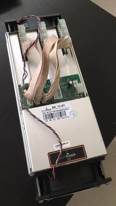 【现货】螞蟻礦機 Antminer S9 13.5T/14T 含帶螞蟻官電 Bitmain apw3 1600W