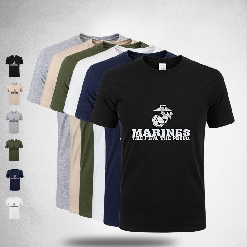 【優品軍迷】US MARINES新款男款男式軍迷短袖T恤全棉吸汗透氣 海軍陸戰隊 6色