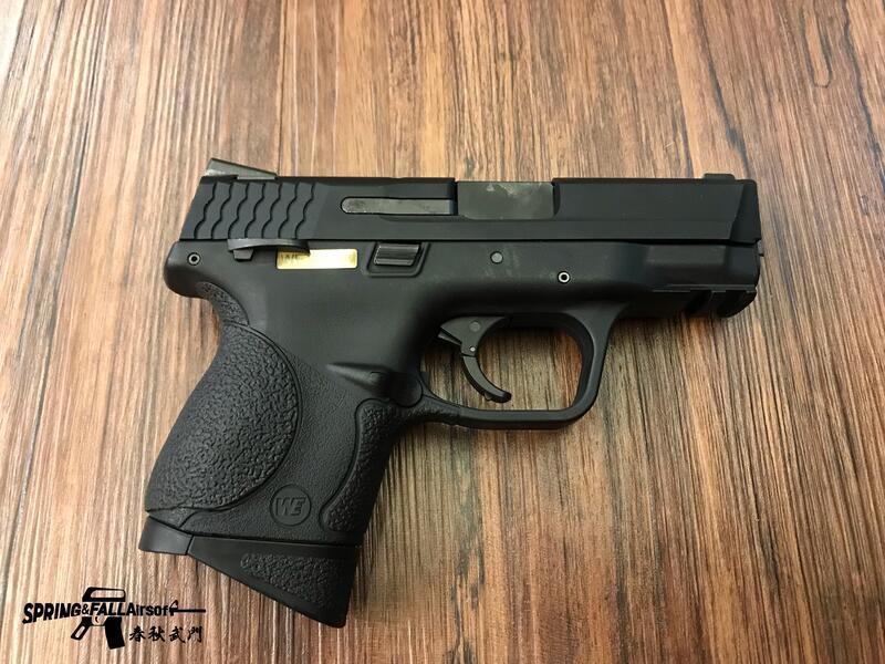 [S&F春秋武門] WE 偉益 S&W M&P9C 小嘴鳥 連發版 黑色 瓦斯手槍 生存遊戲