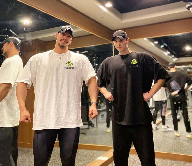 運動BF短袖男T恤健身寬松韓版潮牌INS超火擼鐵訓練肌肉型狗兄弟大碼