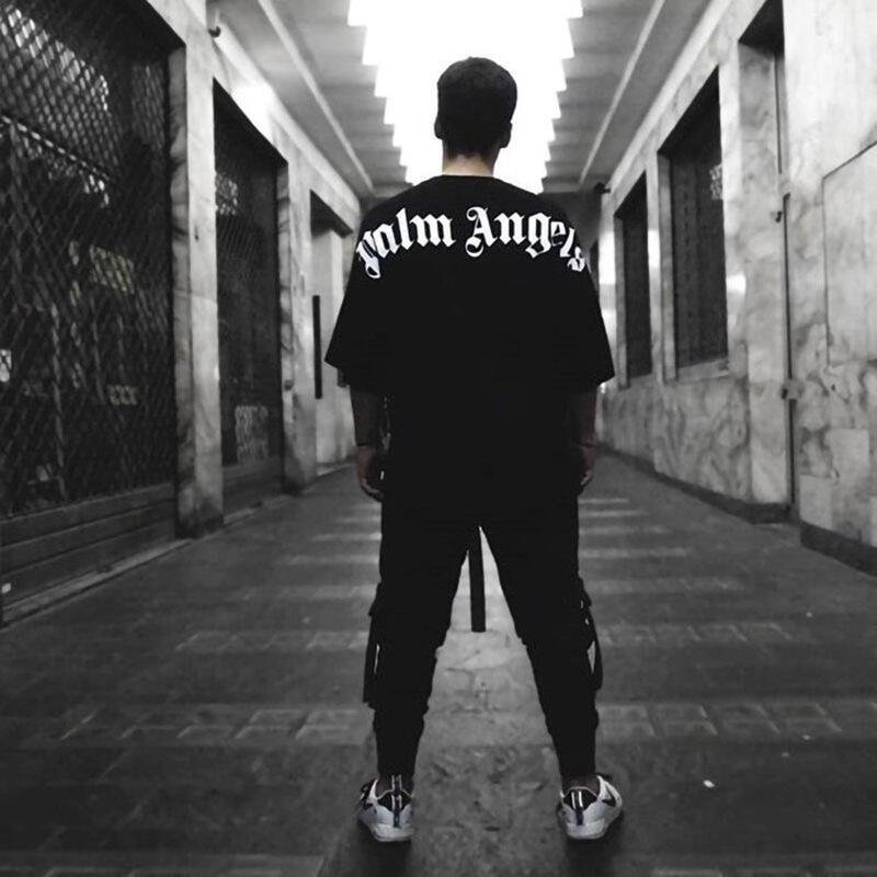 肌肉健身兄弟T恤男夏季薄款蝙蝠袖落肩美寬松休閑潮街頭BF短袖
