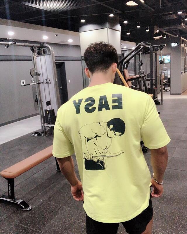 款運動BF短袖男T恤透氣寬松透氣彈力肌肉兄弟健身衣棉韓版大碼