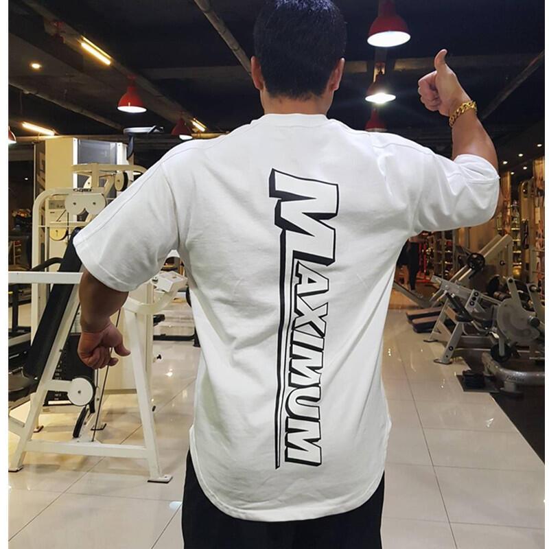 健身國際運動BF短袖男T恤寬松韓版INS超火半袖中袖肌肉兄弟擼鐵大碼