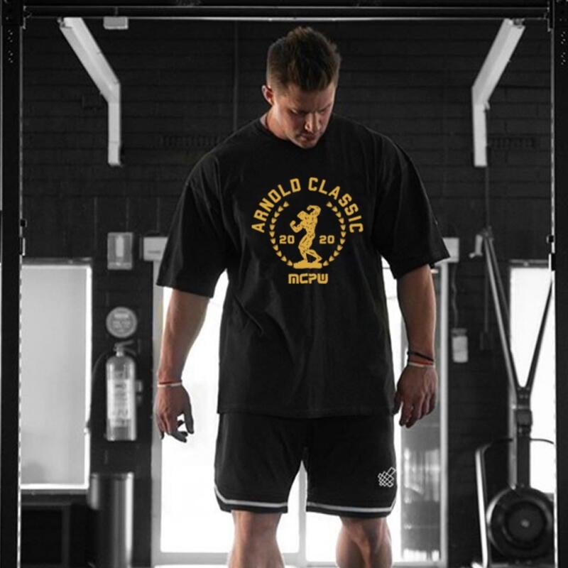 MCPW 寬松休閑運動T恤男健身衣服訓練BF短袖潮牌肌肉顯大半袖兄弟夏