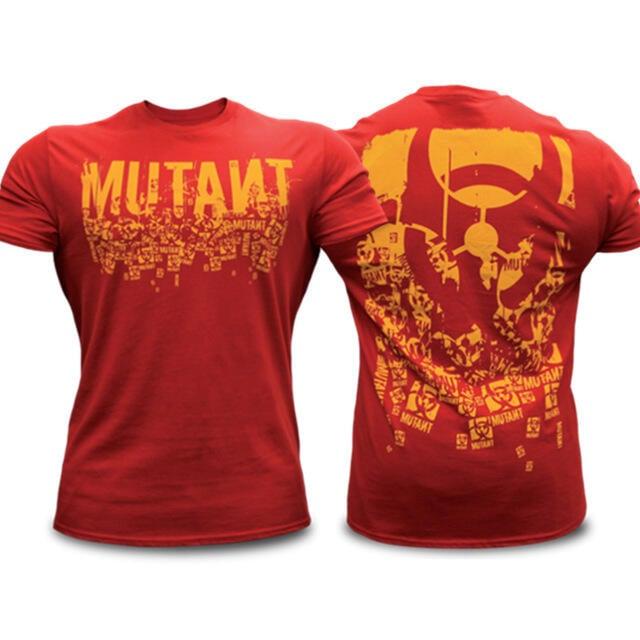 MUTANT鐵血魔獸健身BF短袖男夏季歐美肌肉兄弟運動跑步訓練衣服T恤