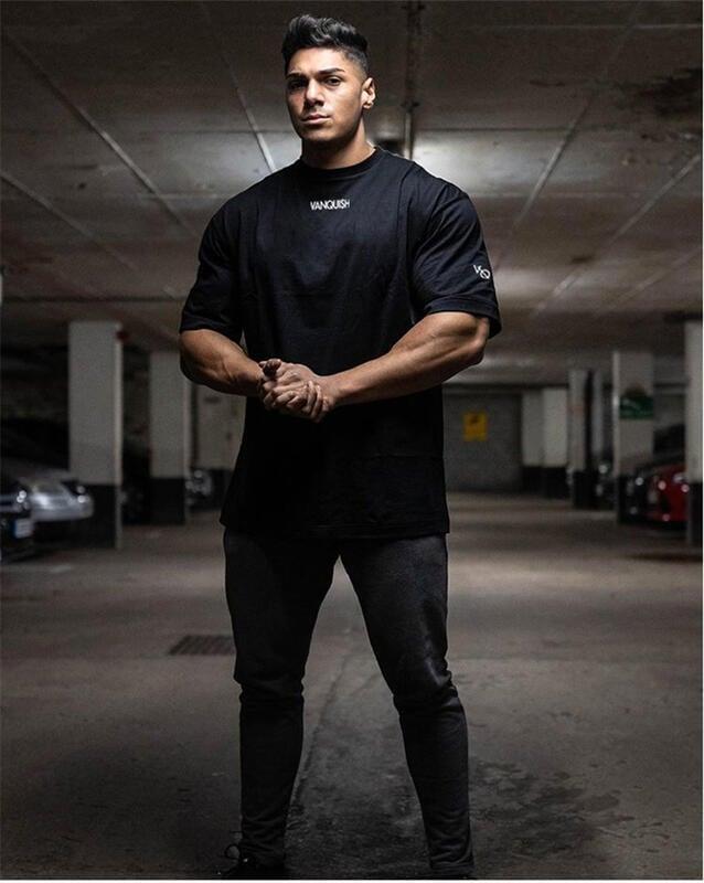 健身國際運動BF短袖男T恤寬松潮牌肌肉型兄弟跑步彈力棉歐版大碼