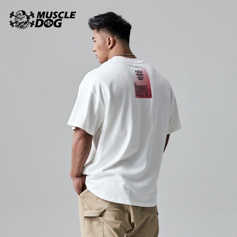 肌肉狗 健一Board-9Tgrs九虎漫畫限定系列 潮流運動休閑BF短袖T恤男