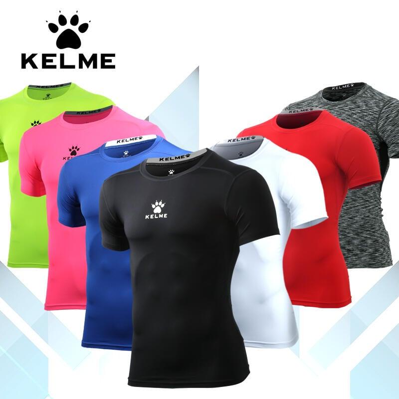 卡爾美緊身衣男BF短袖 健身運動速干衣肌肉男T恤男士壓縮吸汗緊身服