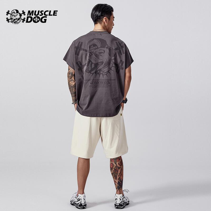 肌肉狗 經典款 運動休閑BF短袖T恤男夏季吸汗透氣寬松訓練健身衣服