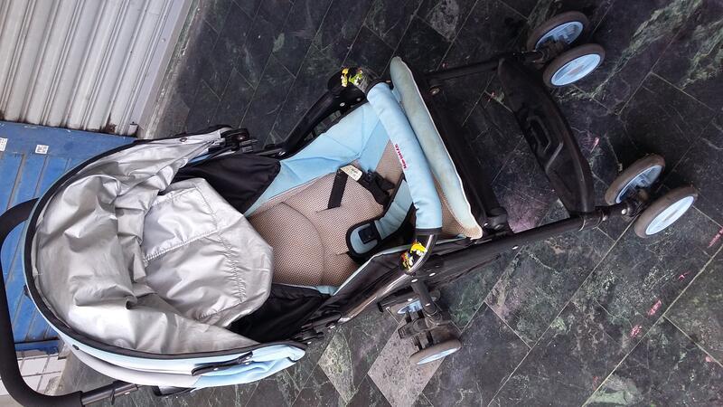 中古 【Syncon欣康】都會新貴雙向手推車 嬰兒 幼兒 兒童 輕巧手推車( 型號:HS06282)
