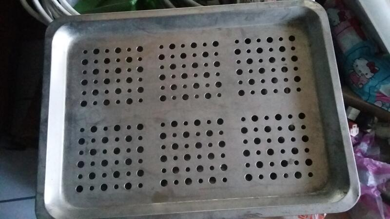 703-中古不鏽鋼茶盤 304不鏽鋼茶盤組 水果盤 醫用白鐵消毒盤 buffet 瀝水架 滴油盤 方盤 (茶盤上層+深型