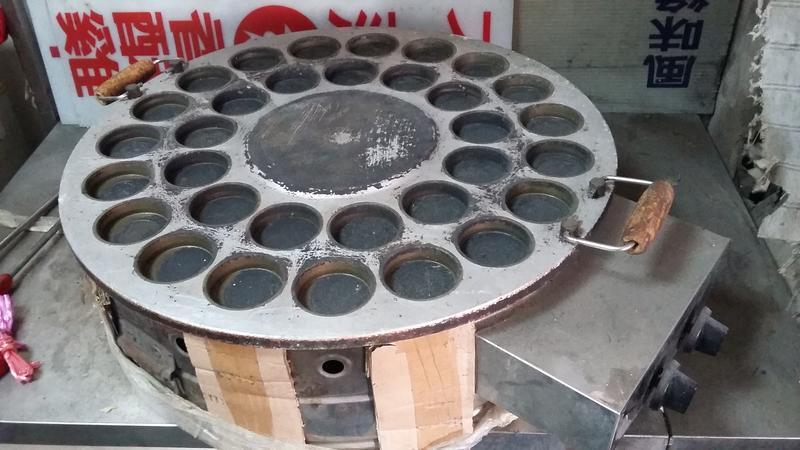 (中古點火故障)(零件機)燃氣紅豆餅機32孔花式煤氣商用車輪餅機器模具小吃烤餅機 創業