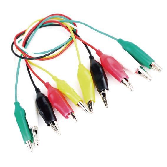 【在台現貨】鱷魚夾線 五色 全長50CM 小號頭 測試線 雙頭導線帶線帶夾