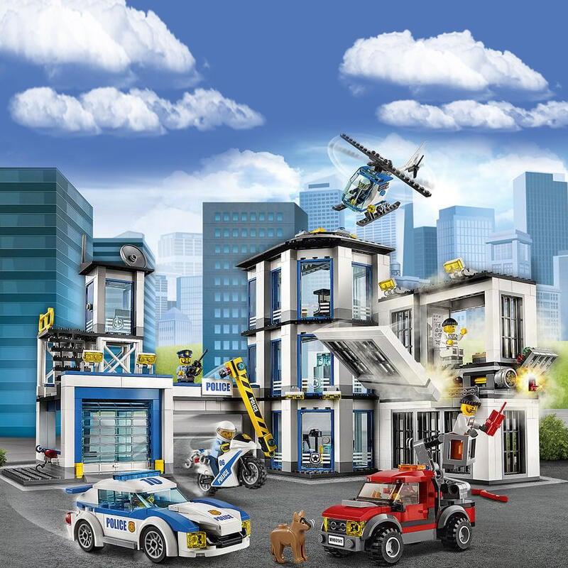 2020新款樂高積木城市系列警察局男孩子拼裝男孩子兒童玩具60141