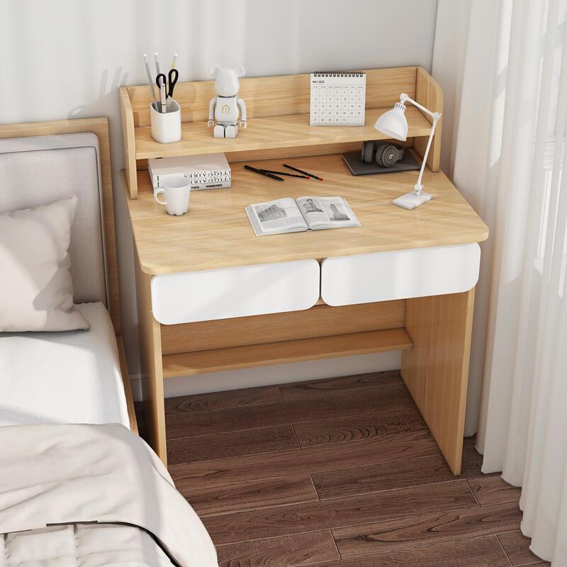 桌子 電腦桌書桌書架組合一體小型桌子簡約家用學生臥室簡易學習寫字桌