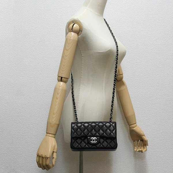 台灣現貨chanel 經典 小香 2.55 香奈兒 COCO 20cm 經典 黑色荔紋紋 古銀鏈手提包 斜挎包 側背包