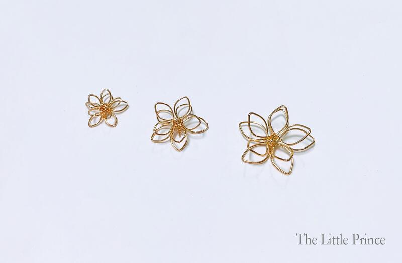 雙層金屬花吊墜 吊飾配件 水晶滴膠飾品 飾品配件 手作素材
