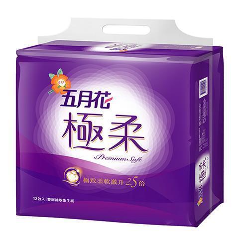 【永豐餘】五月花 極柔 頂級 抽取式衛生紙 110抽*12包*6袋