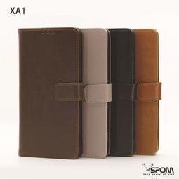 Sony XA1 G3125 牛皮仿真皮 手機殼皮套保護套保護殼 側掀左右翻側翻蓋 插卡層支架A1706