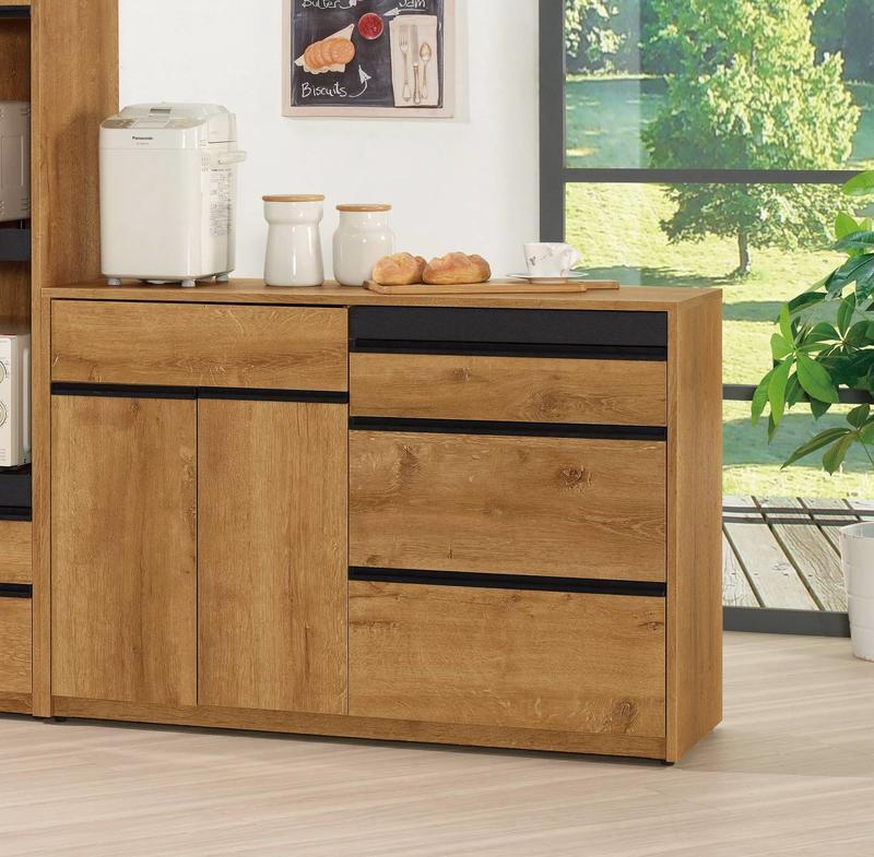 【風禾家具】FQM-936-2@FLS工業風4尺餐櫃【台中7900送到家】收納櫃 櫥櫃 置物櫃 碗盤櫃 儲藏 低甲醛傢俱