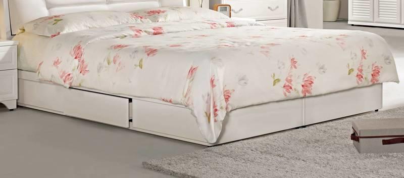 【風禾家具】FCM-125-6@雙人加大6尺抽屜式床底箱【台中10600送到家】床台 低甲醛木心板 單邊三抽設計 傢俱
