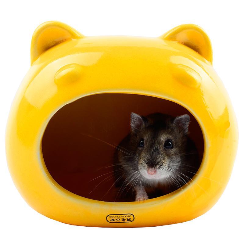 倉鼠瓷窩小房子家具屋子陶瓷小窩夏天窩貝殼睡窩屋貝殼金絲熊用品-行運時代