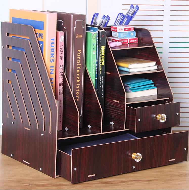 【特惠】電腦桌上書架桌面書櫃簡易置物架小型辦公收納架—行運時代