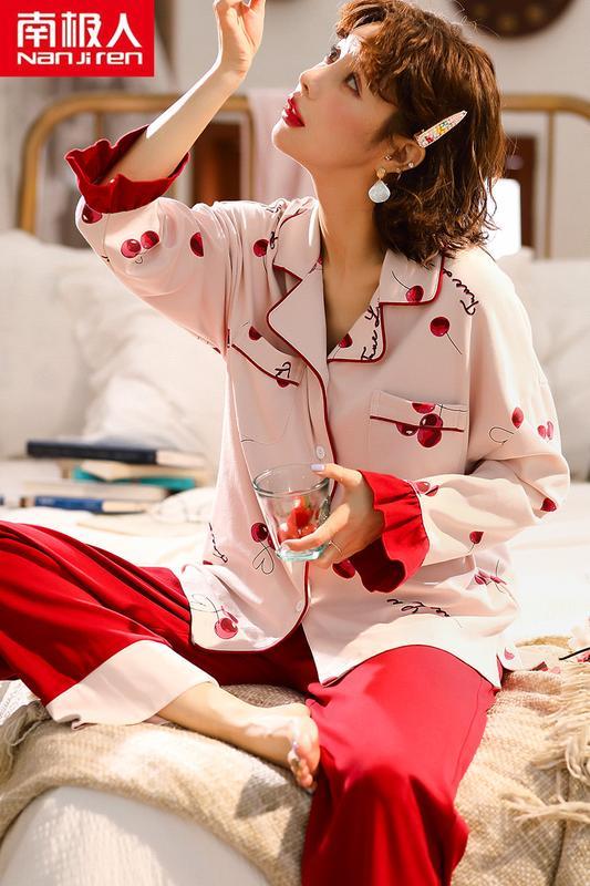 【行運時代】睡衣女秋冬純棉長袖春秋季可愛套裝清新學生韓版甜美家居服